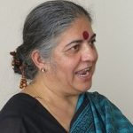 Vandana Shiva à l'Université d'été de la solidarité internationale, juillet 2014