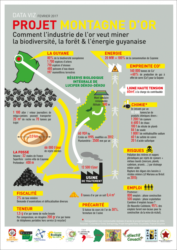 infographie montagne d'or Guyane