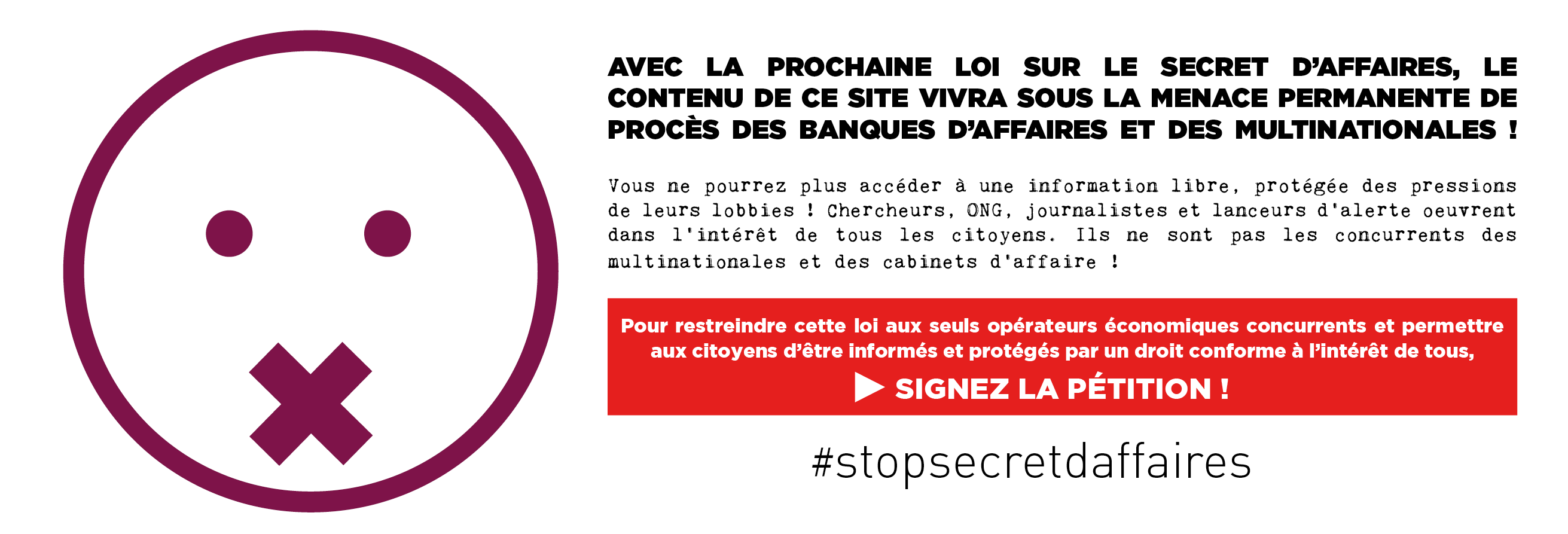 Stop secrets affaires